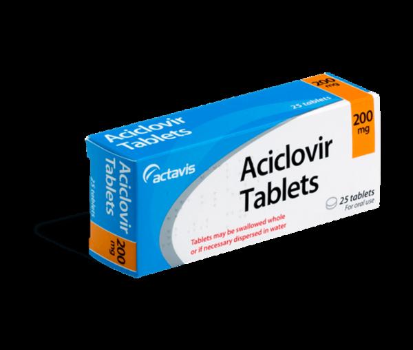 Aciclovir 200 mg 25 tabletten voorkant