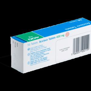 Aciclovir 500 mg 56 tabletten achterkant