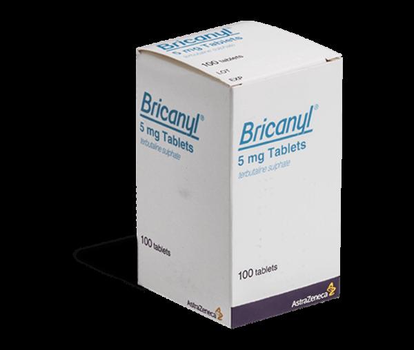 Bricanyl tabletten verpakking voorkant