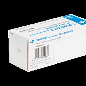Caverject Dual Chamber 10 mg achterkant
