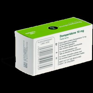 Domperidone 10 mg achterkant verpakking