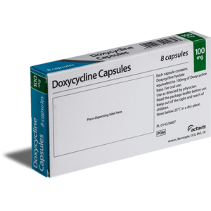 Doxycycline achterkant verpakking