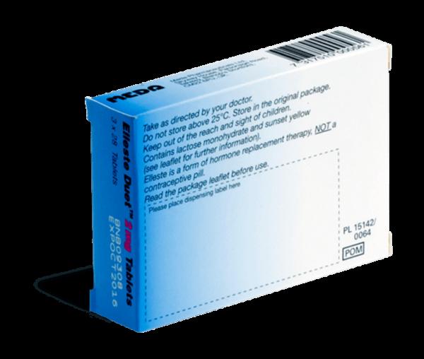 Elleste Duet 2 mg achterkant verpakking