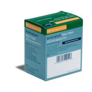 Ipratropium Steri-Neb achterkant verpakking