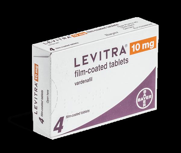 Levitra 10mg voorkant verpakking