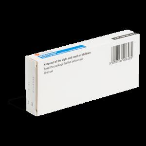 Malaria tabletten achterkant verpakking