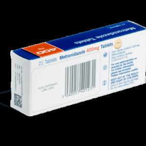 Metronidazol achterkant verpakking