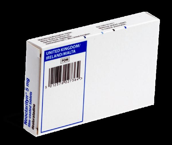 Neoclarityn achterkant verpakking