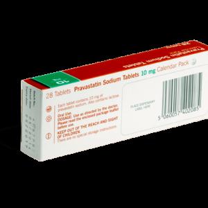 Pravastatine achterkant verpakking