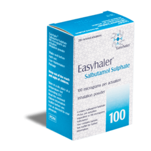 Salbutamol Easyhaler 100 mcg voorkant