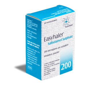 Salbutamol Easyhaler 200 mcg voorkant