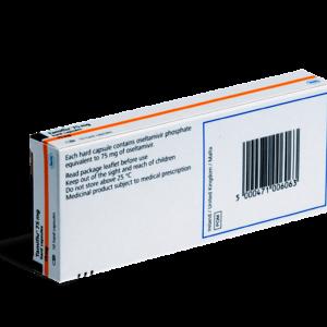 Tamiflu achterkant verpakking