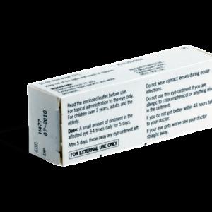 Chlooramfenicol zalf achterkant verpakking